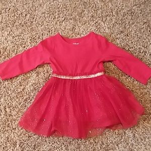 Cat and jack red and gold sparkle dress 18 months